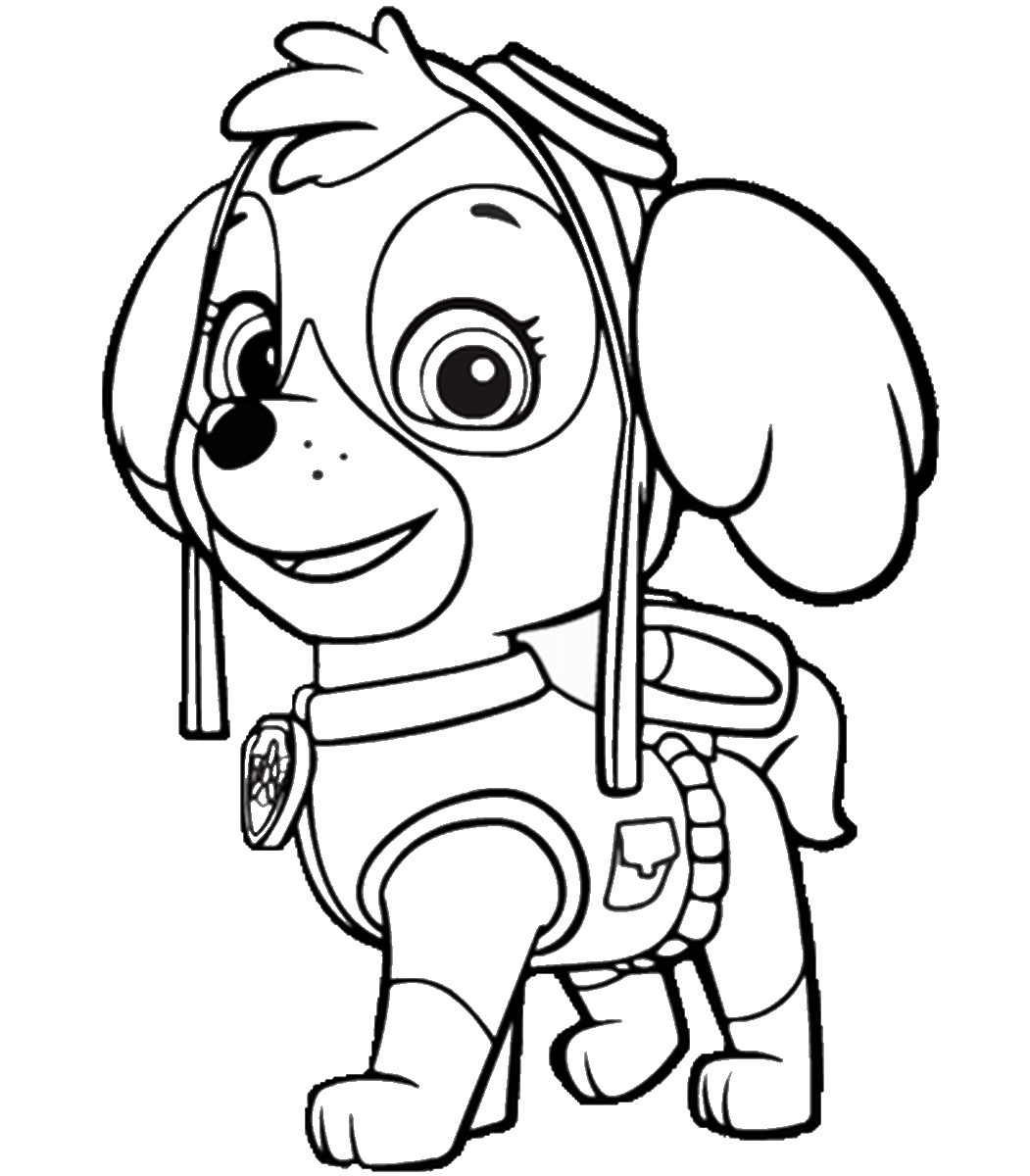 Best ideas about Printable Coloring Pages For Girls Paw Patrol . Save or Pin Paw Patrol Free Colouring Pages Now.