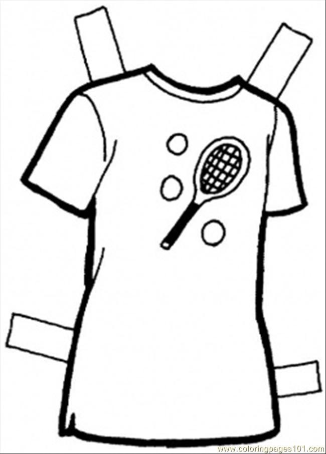 Printable Coloring Pages For Girls With Shirts  T Shirt Coloring Page Free Clothing Coloring Pages