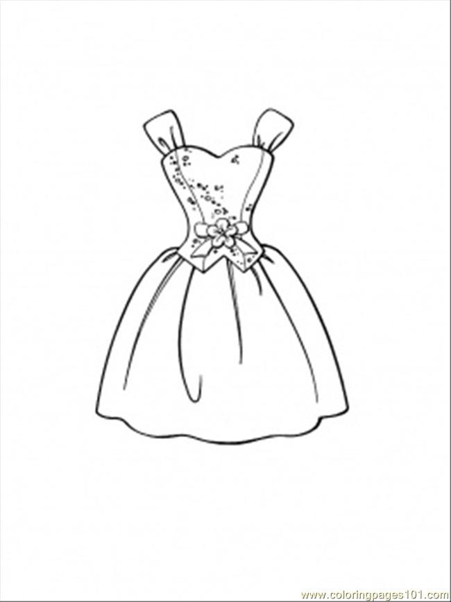 Printable Coloring Pages For Girls With Shirts  Beautiful Dress Coloring Page Free Clothing Coloring