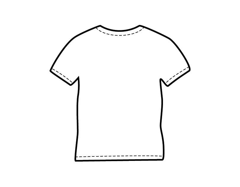 Printable Coloring Pages For Girls With Shirts  Desenho de Camiseta para colorir Tudodesenhos