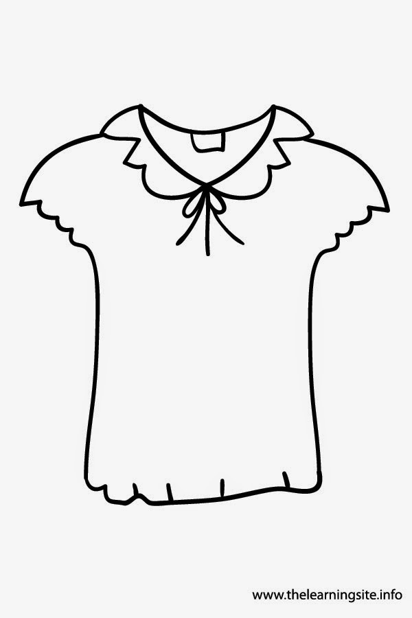 Printable Coloring Pages For Girls With Shirts  SGBlogosfera Mara José Argüeso CLOTHES FLASHCARDS