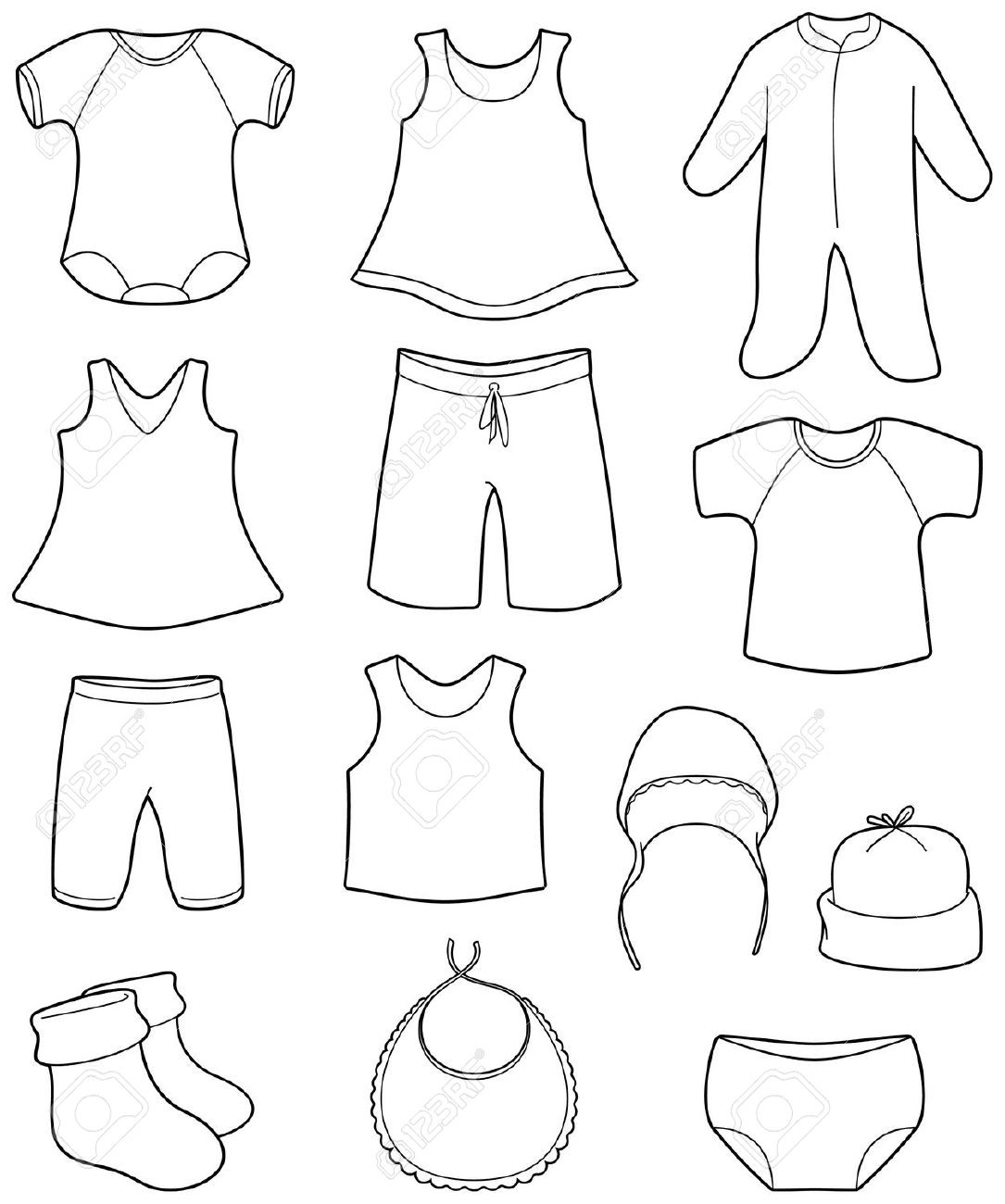 Printable Coloring Pages For Girls With Shirts  Children s clothing clipart Clipground