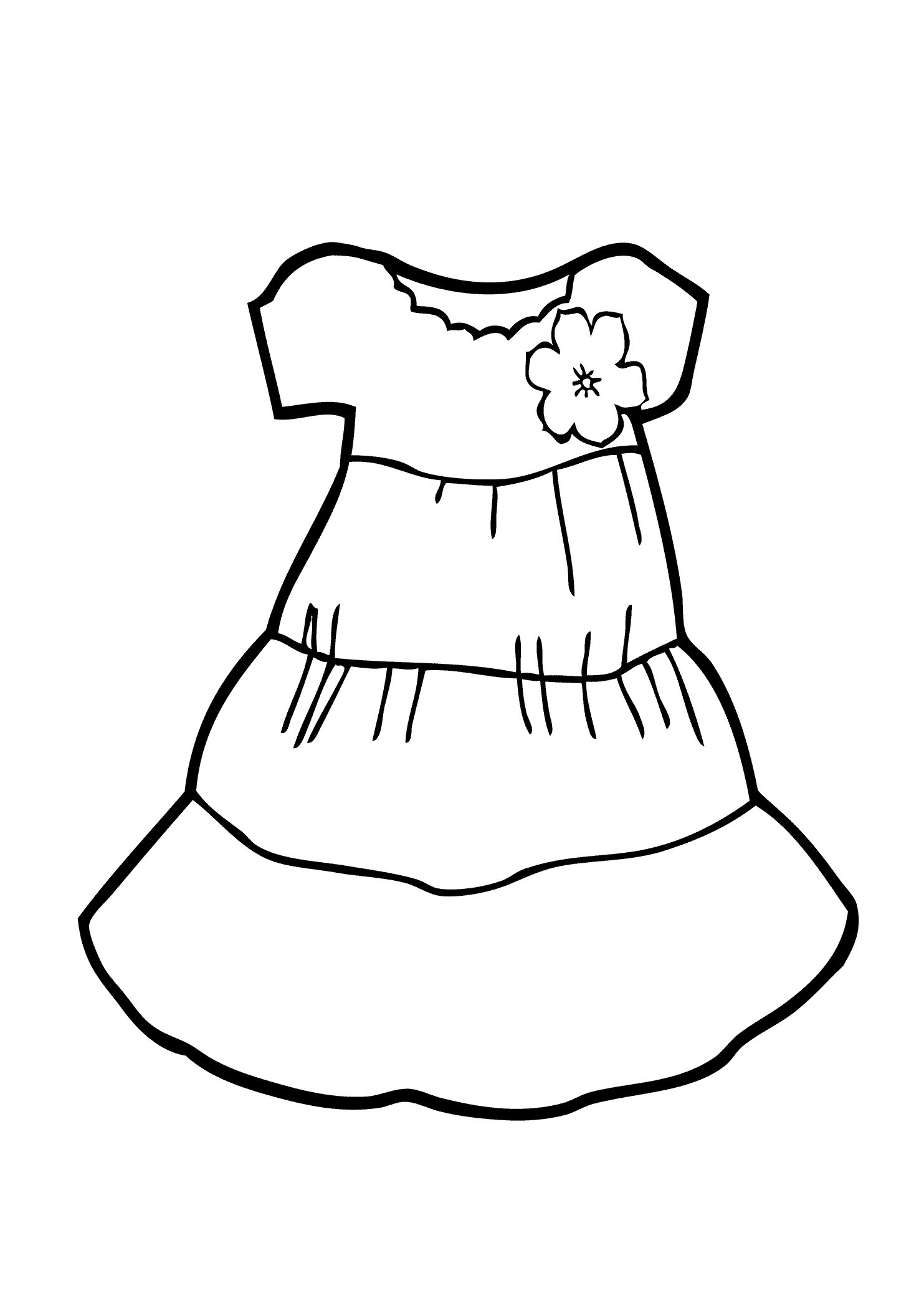 Printable Coloring Pages For Girls With Shirts  Focus Coloring Pages Summer Clothes 2 Colou