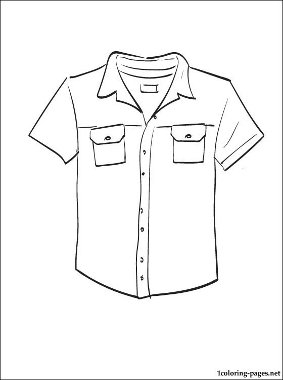 Printable Coloring Pages For Girls With Shirts  Shirt coloring and printable page