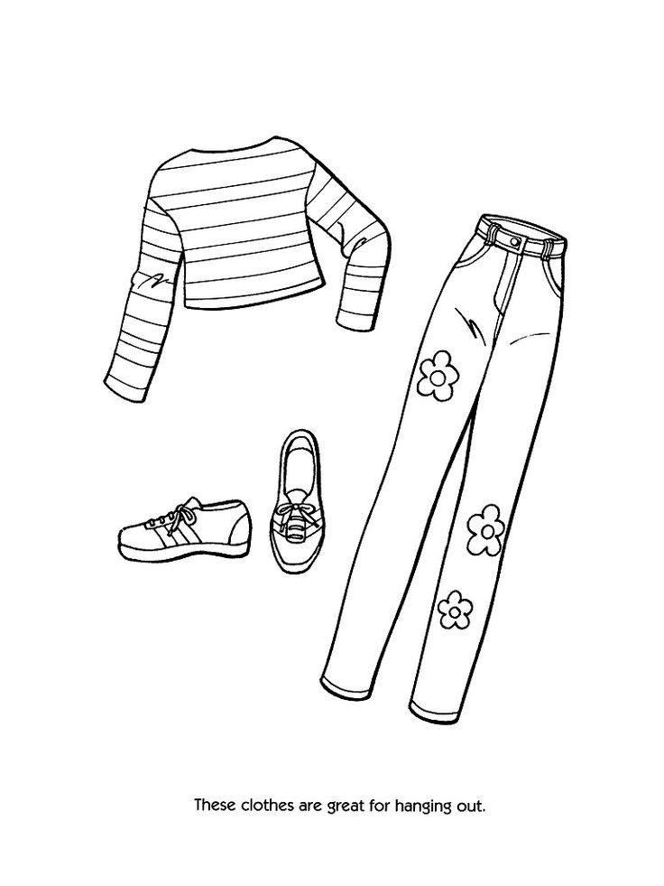 Printable Coloring Pages For Girls With Shirts  Printable Coloring Pages OF FASHION CLOTHING Coloring Home