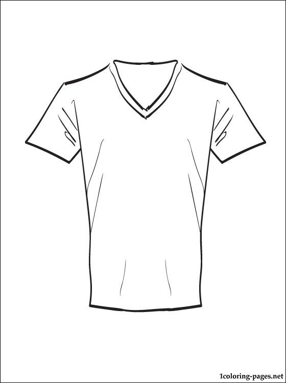 Printable Coloring Pages For Girls With Shirts  T shirt coloring page to print out