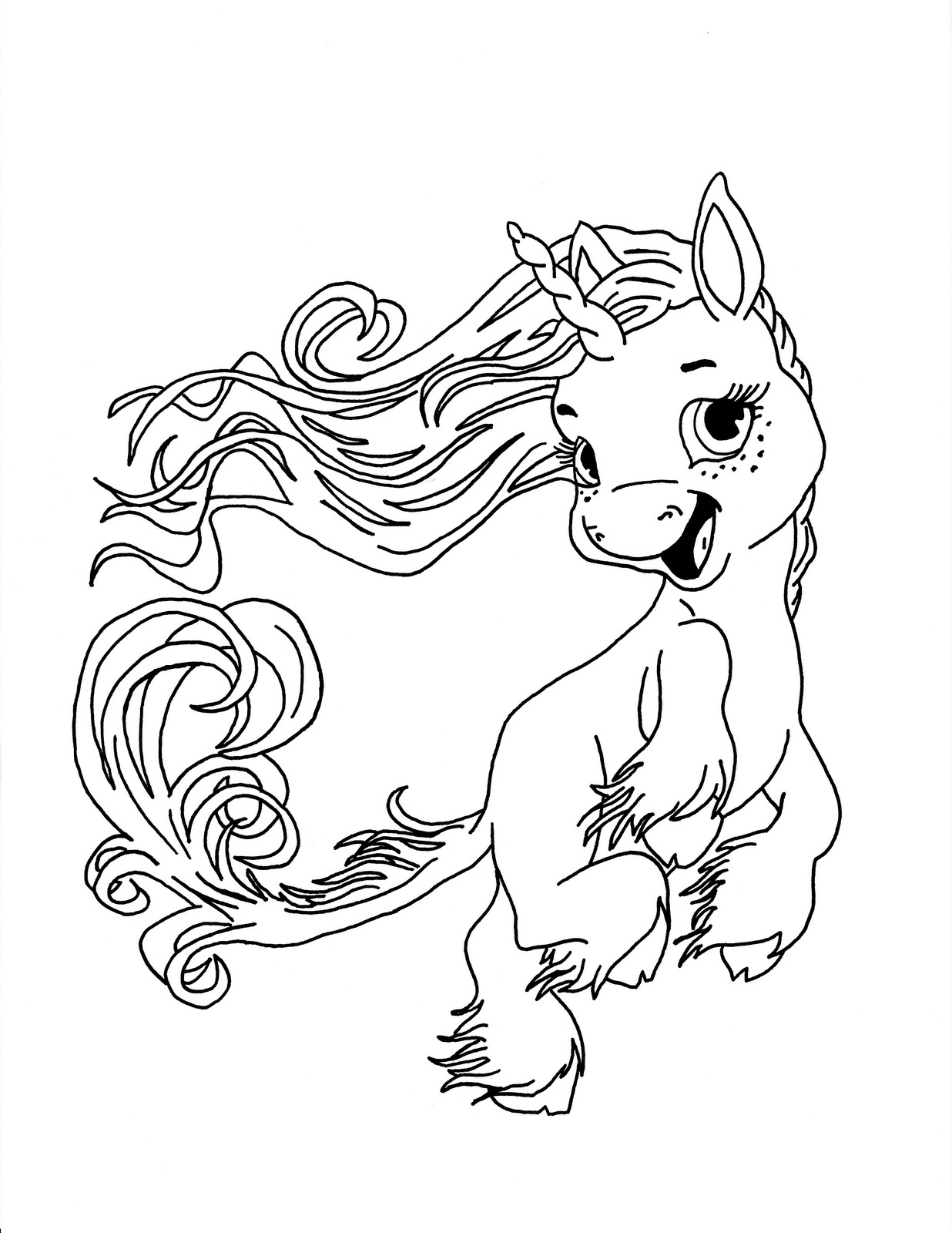 Printable Coloring Pages For Kids Unicorn  Unicorn Coloring Pages coloringsuite