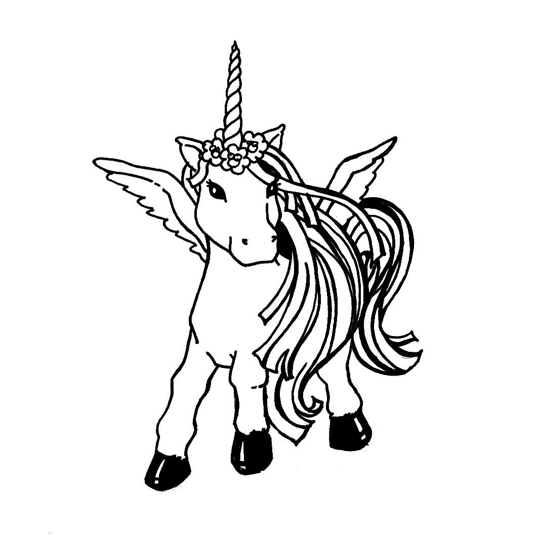 Printable Coloring Pages For Kids Unicorn  Free Printable Unicorn Coloring Pages For Kids