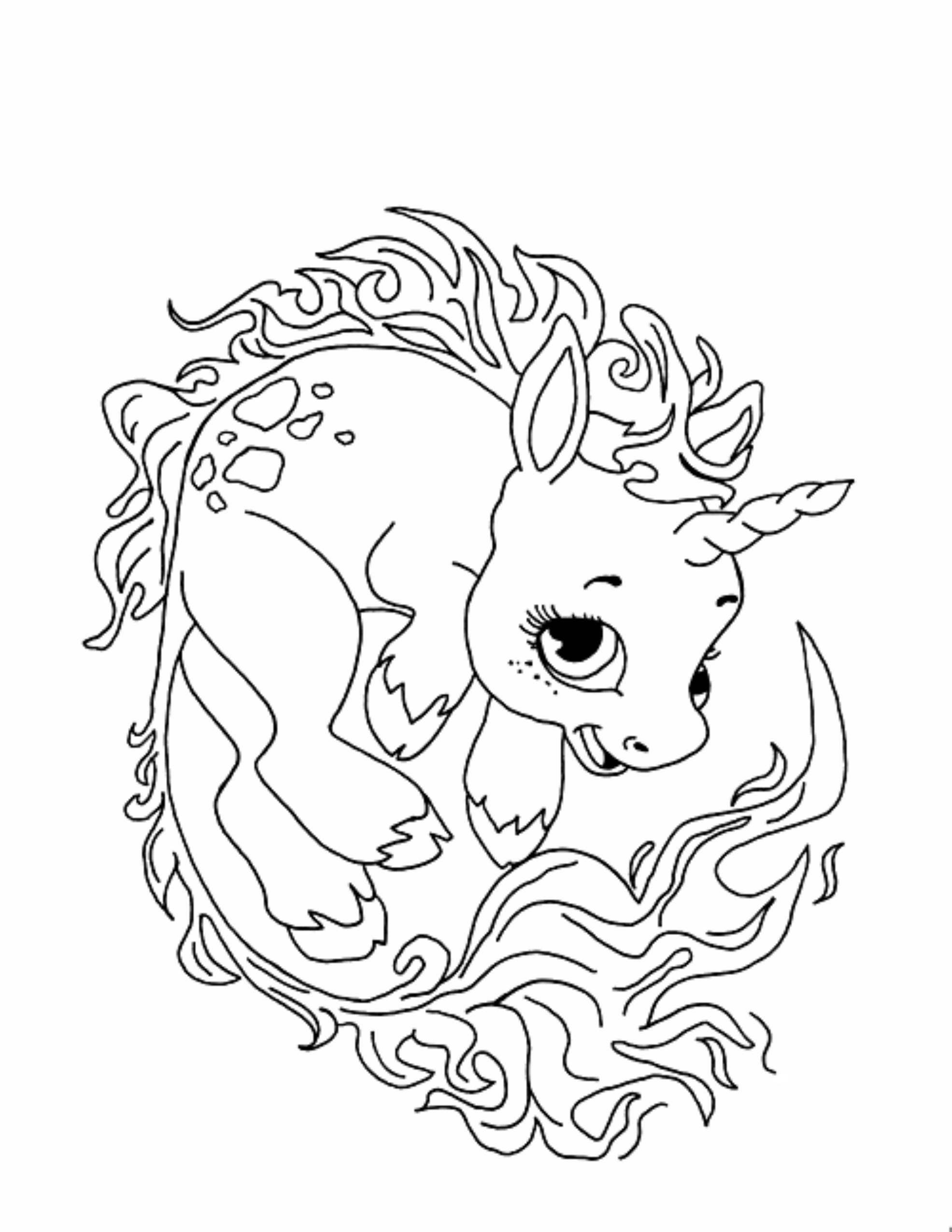 Printable Coloring Pages For Kids Unicorn  Unicorn Coloring Pages for Adults Bestofcoloring