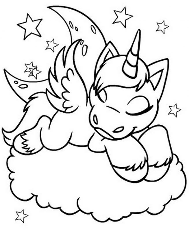 Printable Coloring Pages For Kids Unicorn  Unicorn Coloring Pages Printable