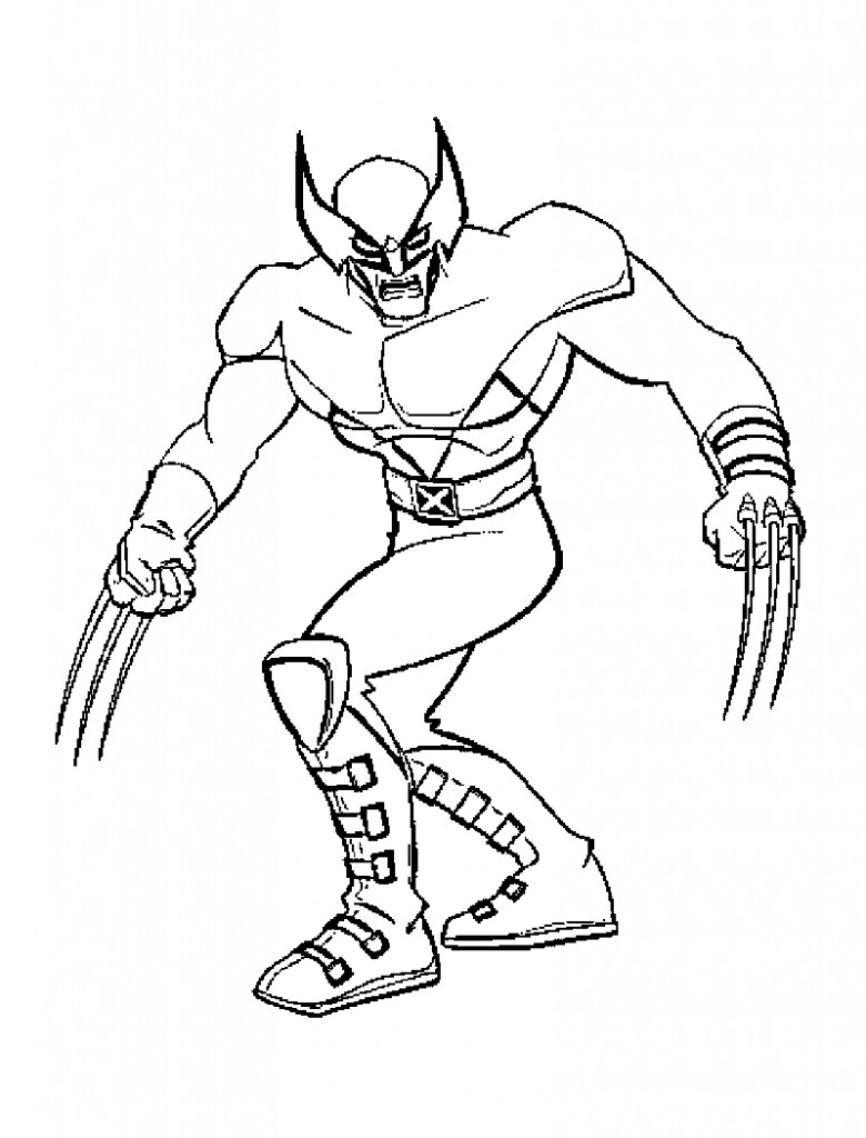 Printable Coloring Pages For Men  Free Printable X Men Coloring Pages For Kids