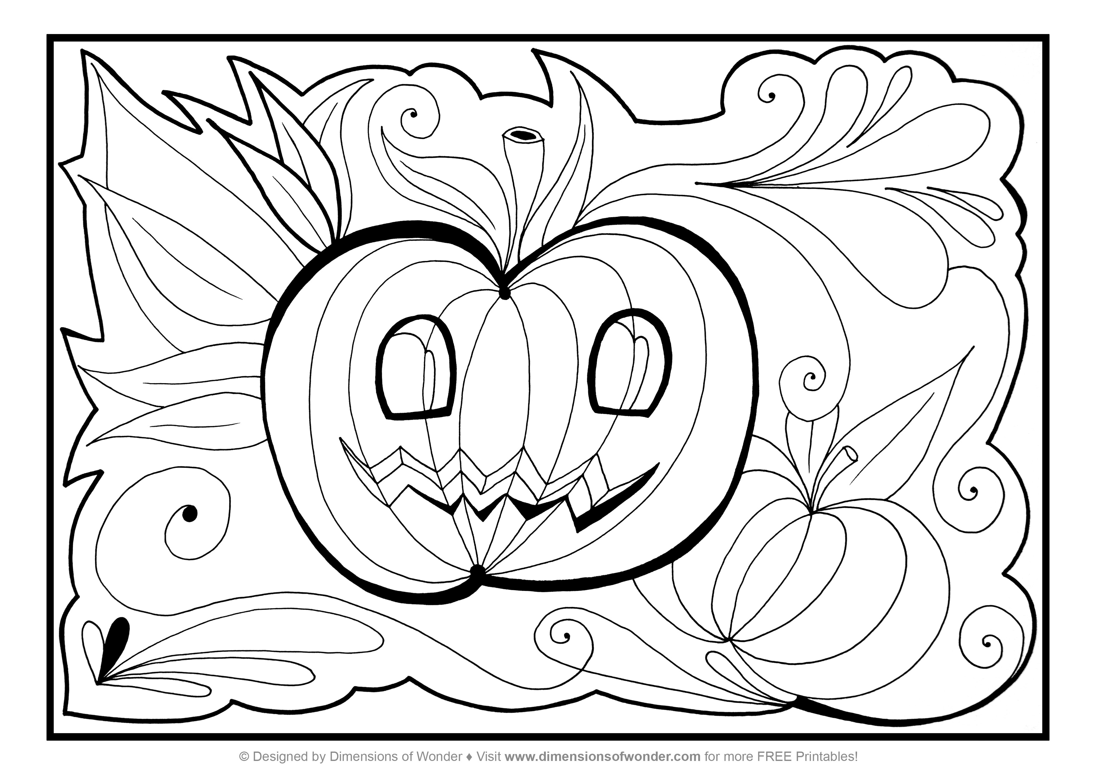 Printable Coloring Pages For Older Kids  New Free Printable Halloween Coloring Pages for Older Kids
