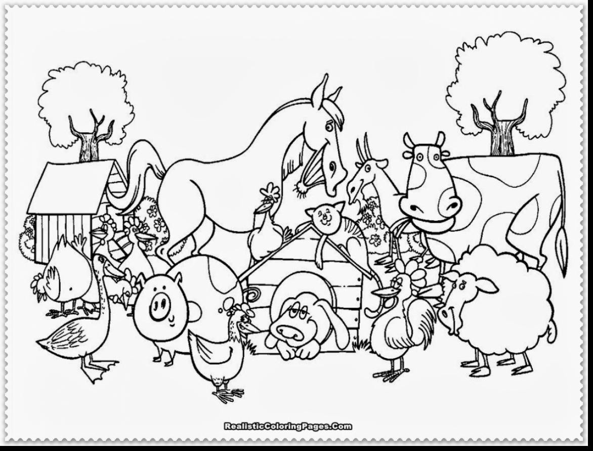 Printable Coloring Pages Of Animals  Free Printable Color Pages Farm Animals The Art Jinni