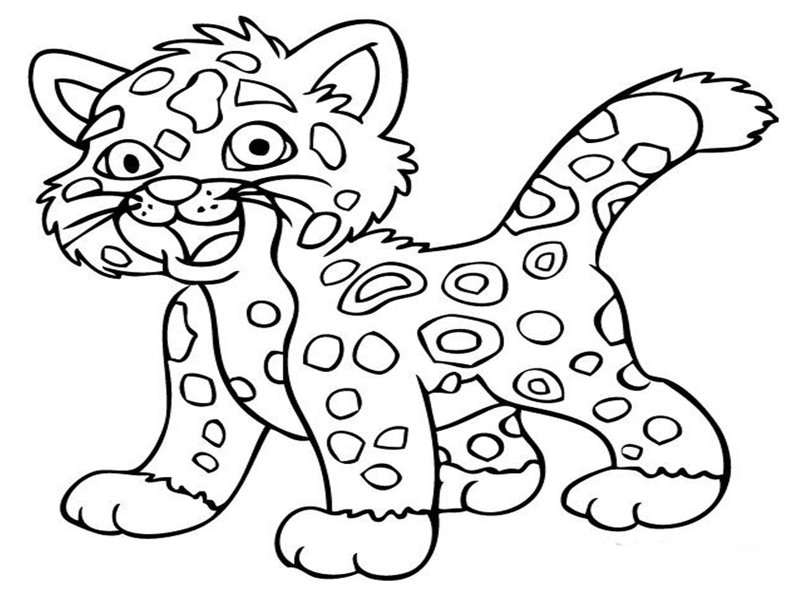 Printable Coloring Pages Of Animals  Jaguar Animal Coloring Pages