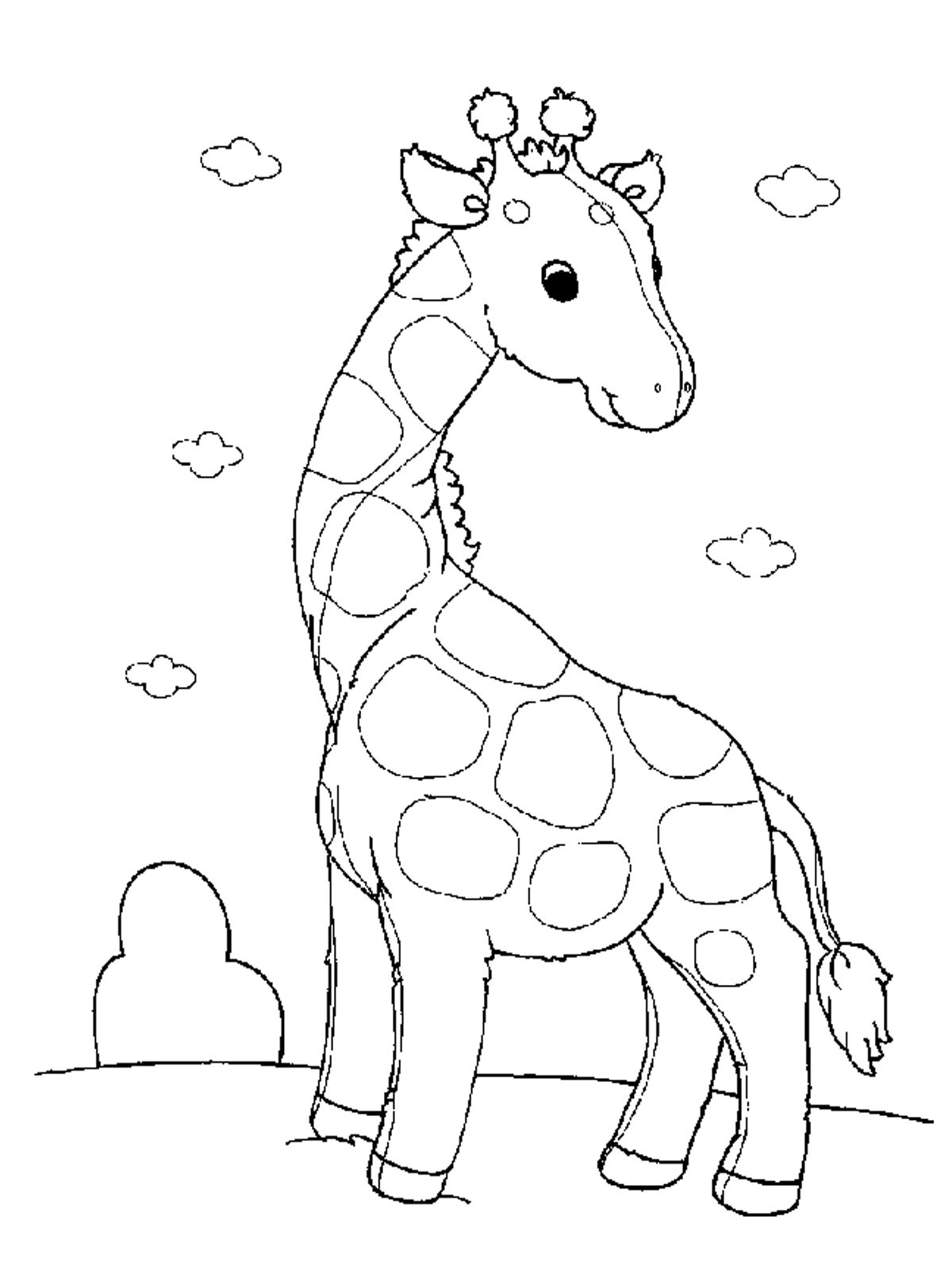 Printable Coloring Pages Of Animals  Free Printable Giraffe Coloring Pages For Kids