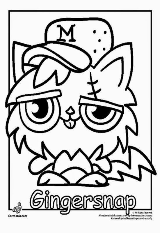 Printable Coloring Pages Of Moshlings  Moshi Monsters Coloring Pages