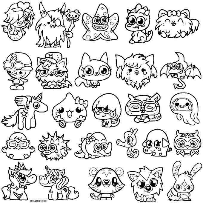 Printable Coloring Pages Of Moshlings  Printable Moshi Monsters Coloring Pages For Kids