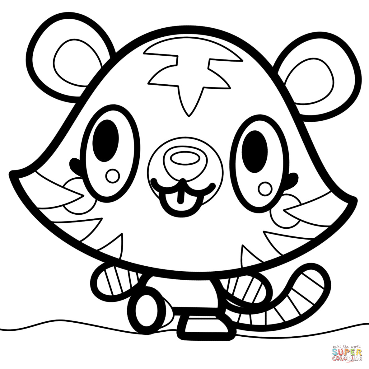 Printable Coloring Pages Of Moshlings  Moshi Monsters Jeepers coloring page