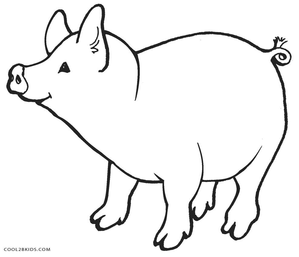 Printable Coloring Pages Pigs  Free Printable Pig Coloring Pages For Kids