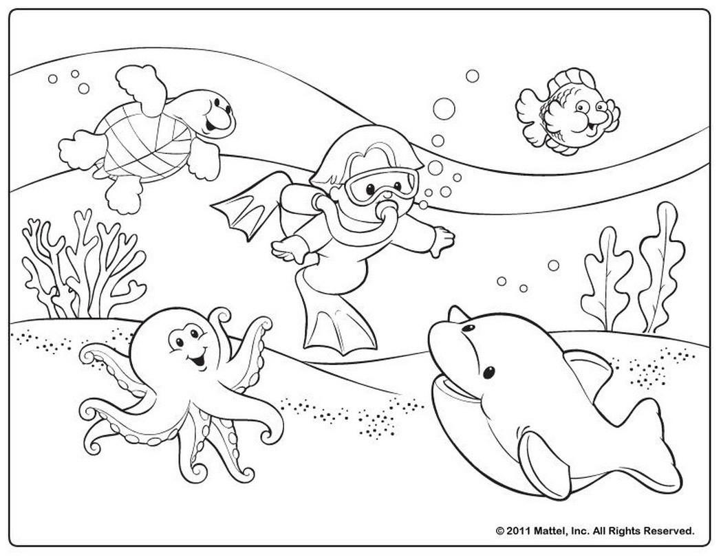 Printable Coloring Pages Summer  free printable summer coloring pages Coloring