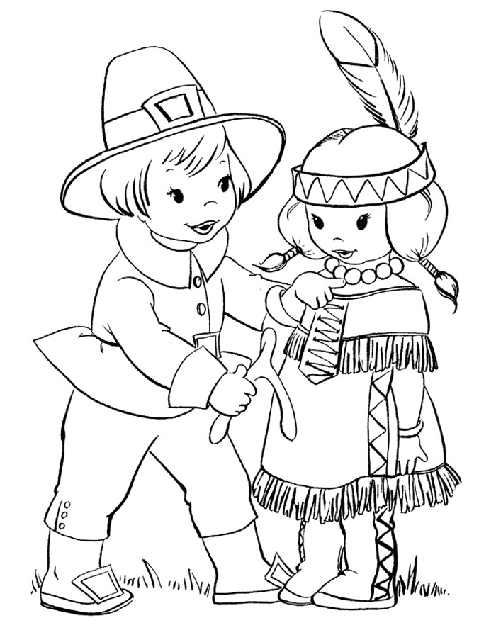 Printable Coloring Pages Thanksgiving Kids  Thanksgiving Coloring Pages