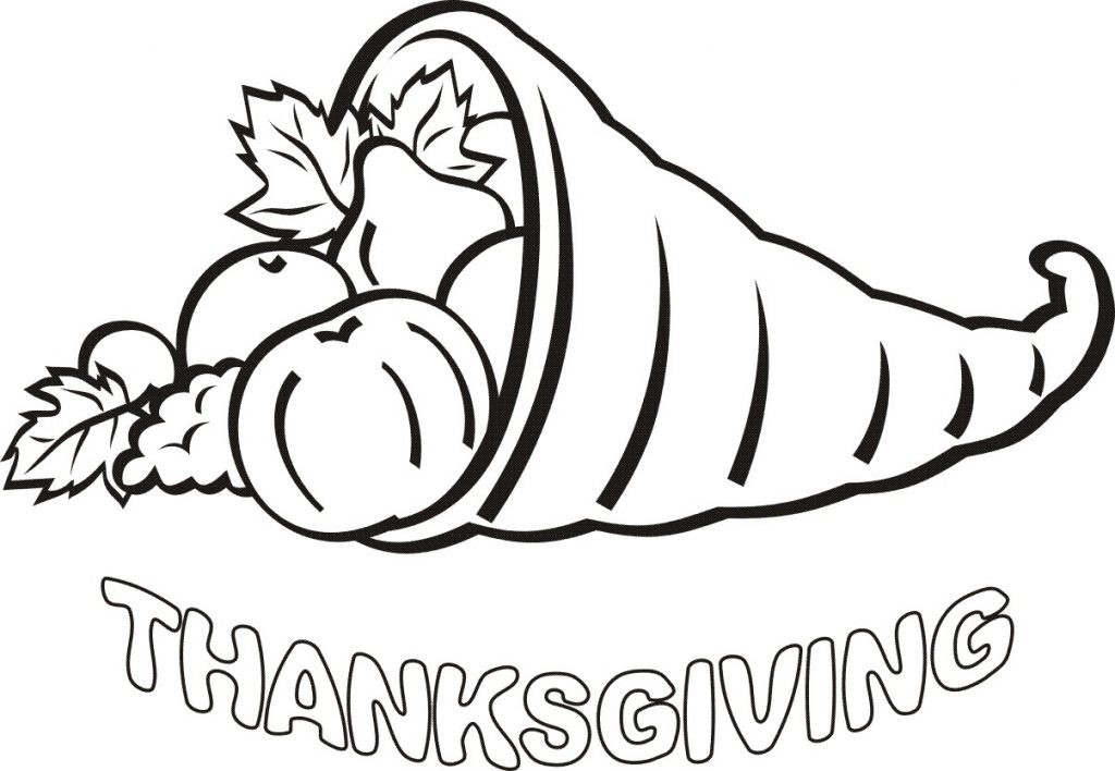 Printable Coloring Pages Thanksgiving Kids  Thanksgiving Day Text Messages Clipart Coloring Pages