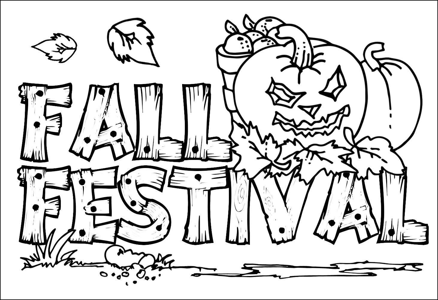 Printable Coloring Sheets For Fall  Fall Coloring Pages