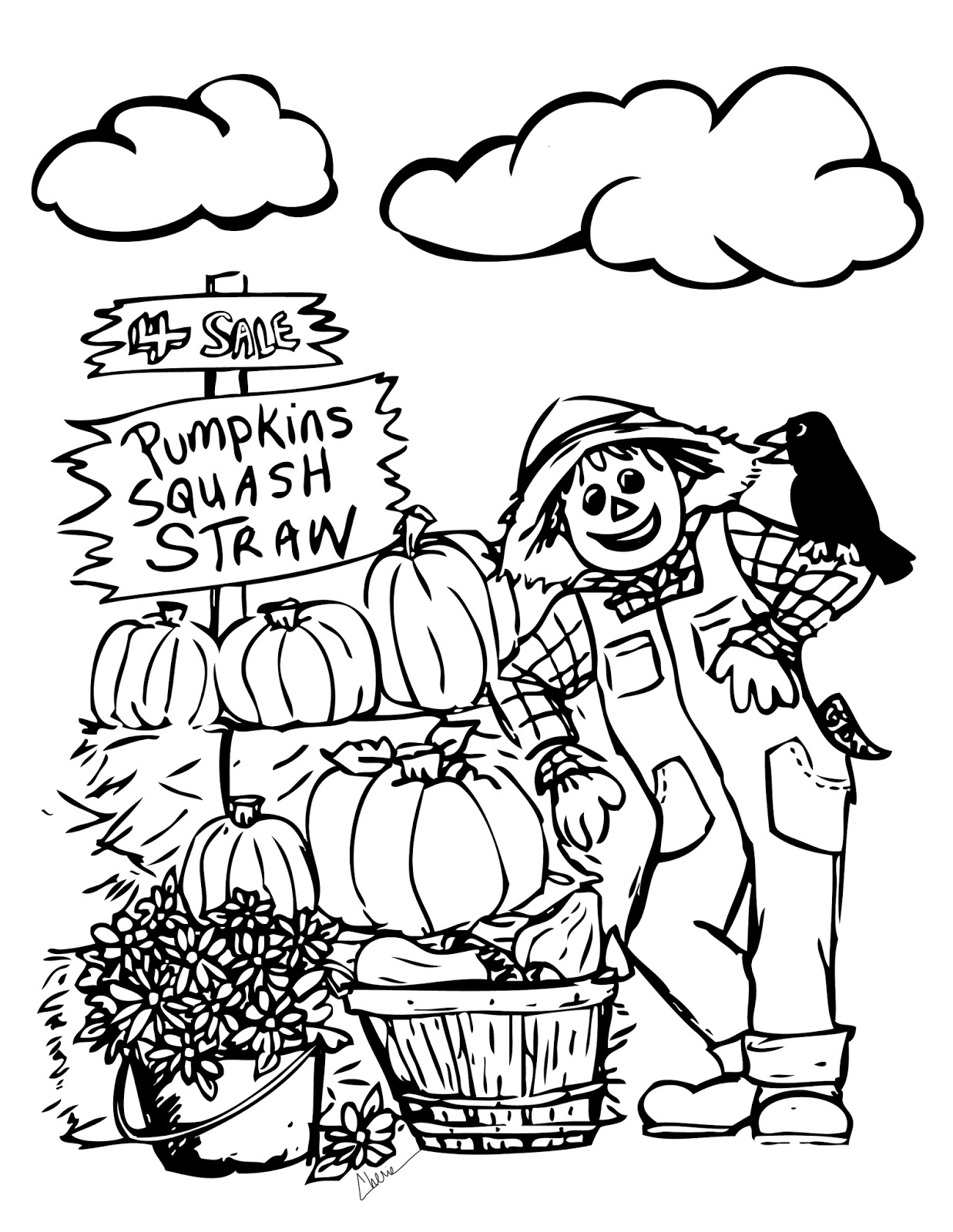 Printable Coloring Sheets For Fall  Fall Coloring Sheets Printable