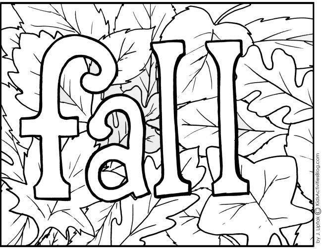 Printable Coloring Sheets For Fall  4 Free Printable Fall Coloring Pages