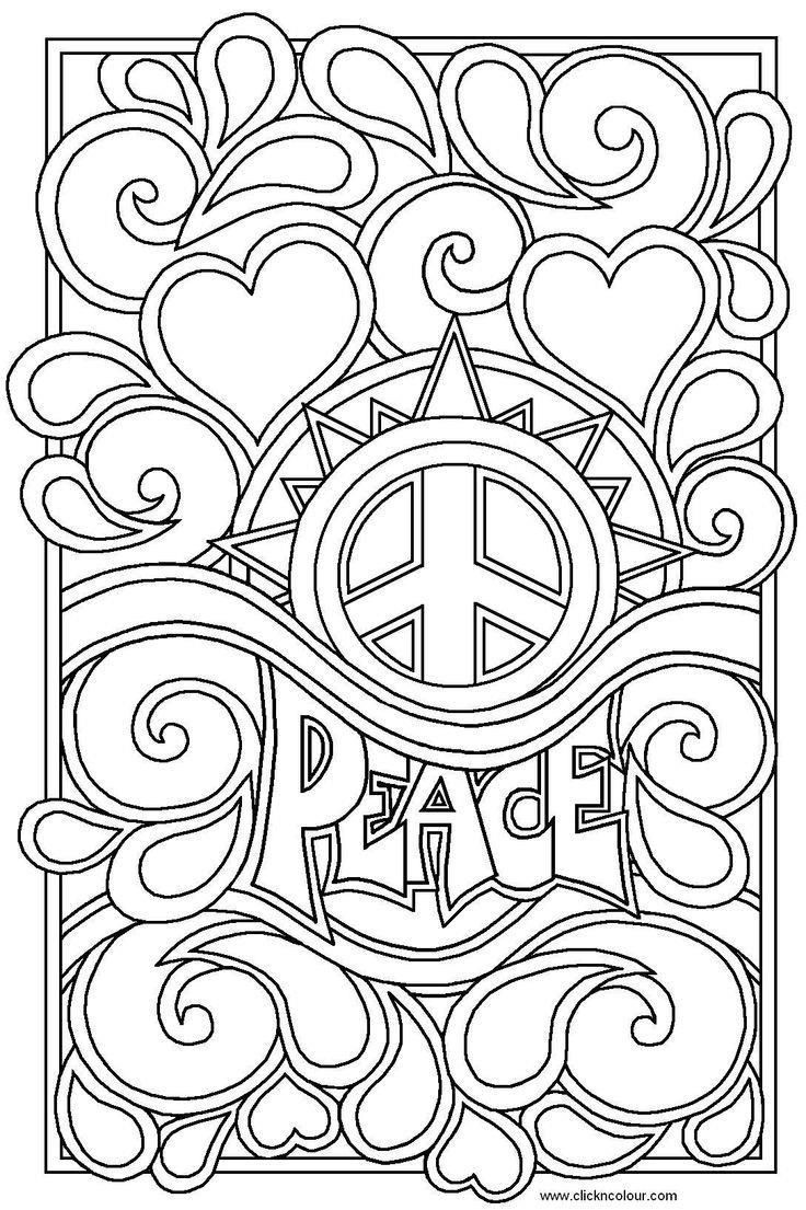 Printable Coloring Sheets For Teenage Girls  Printable Coloring Pages For Teens free coloring page