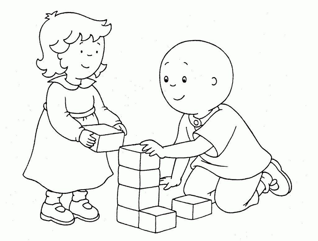Printable Coloring Sheets Free  Caillou Coloring Pages Best Coloring Pages For Kids