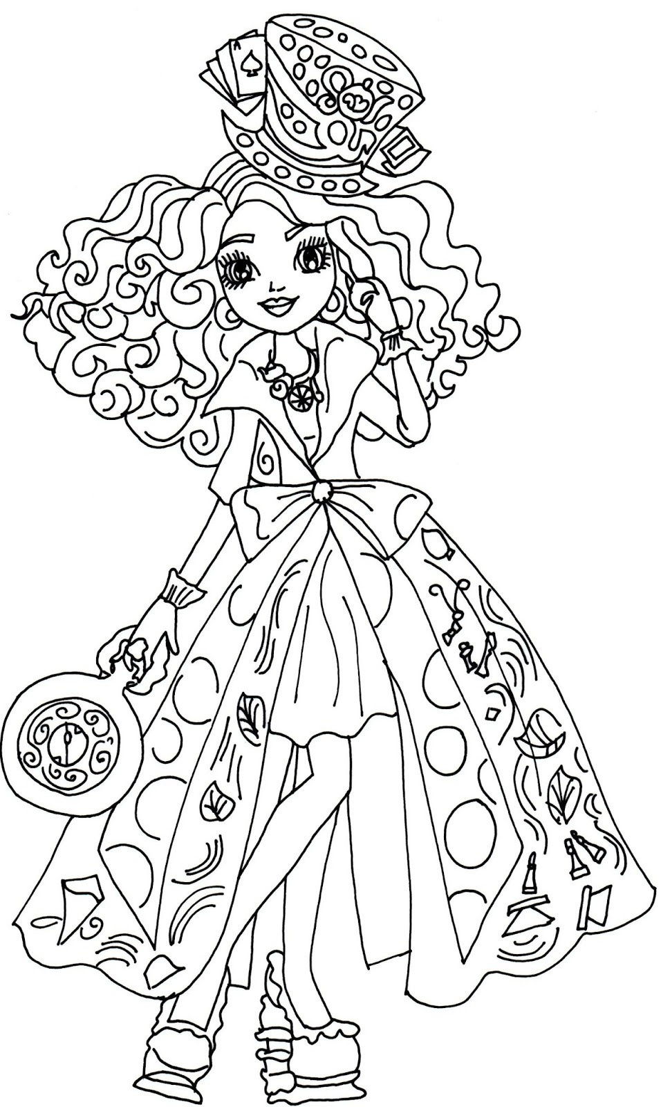 Printable Coloring Sheets Free  Ever After High Coloring Pages Best Coloring Pages For Kids