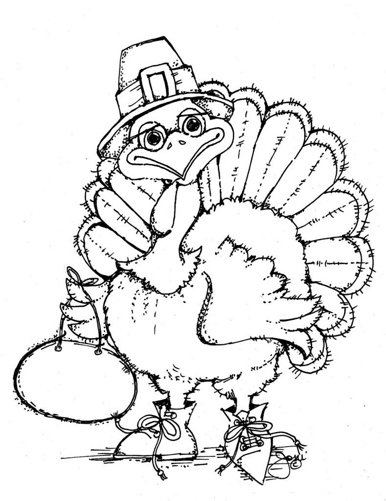 Printable Coloring Sheets Free  Free Printable Turkey Coloring Pages For Kids