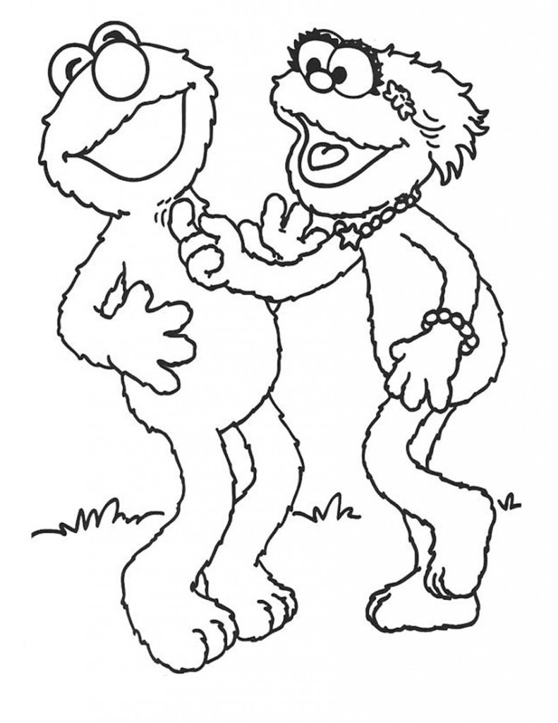 Printable Coloring Sheets Free  Free Printable Elmo Coloring Pages For Kids