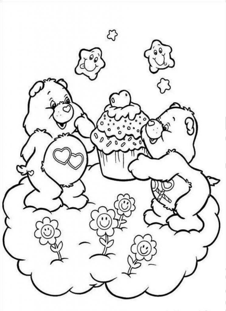 Printable Coloring Sheets Free  Free Printable Care Bear Coloring Pages For Kids
