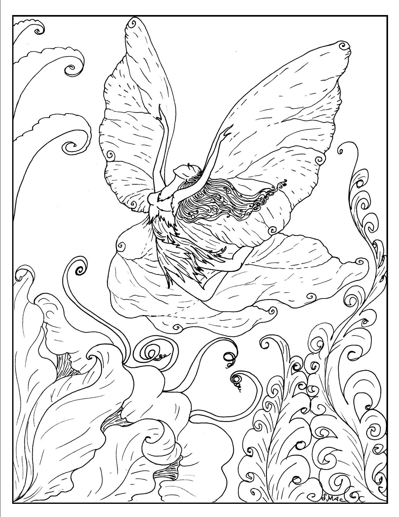 Printable Coloring Sheets Free  Free Printable Fantasy Coloring Pages for Kids Best