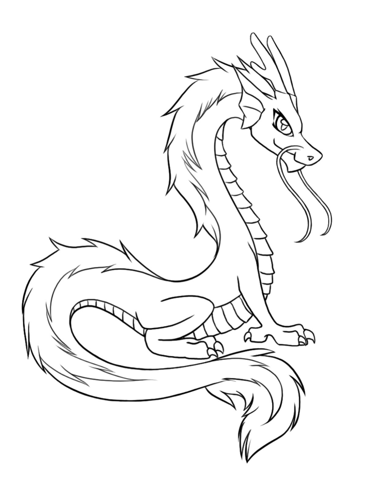 Printable Dragon Coloring Pages  dragon coloring pages printable 01