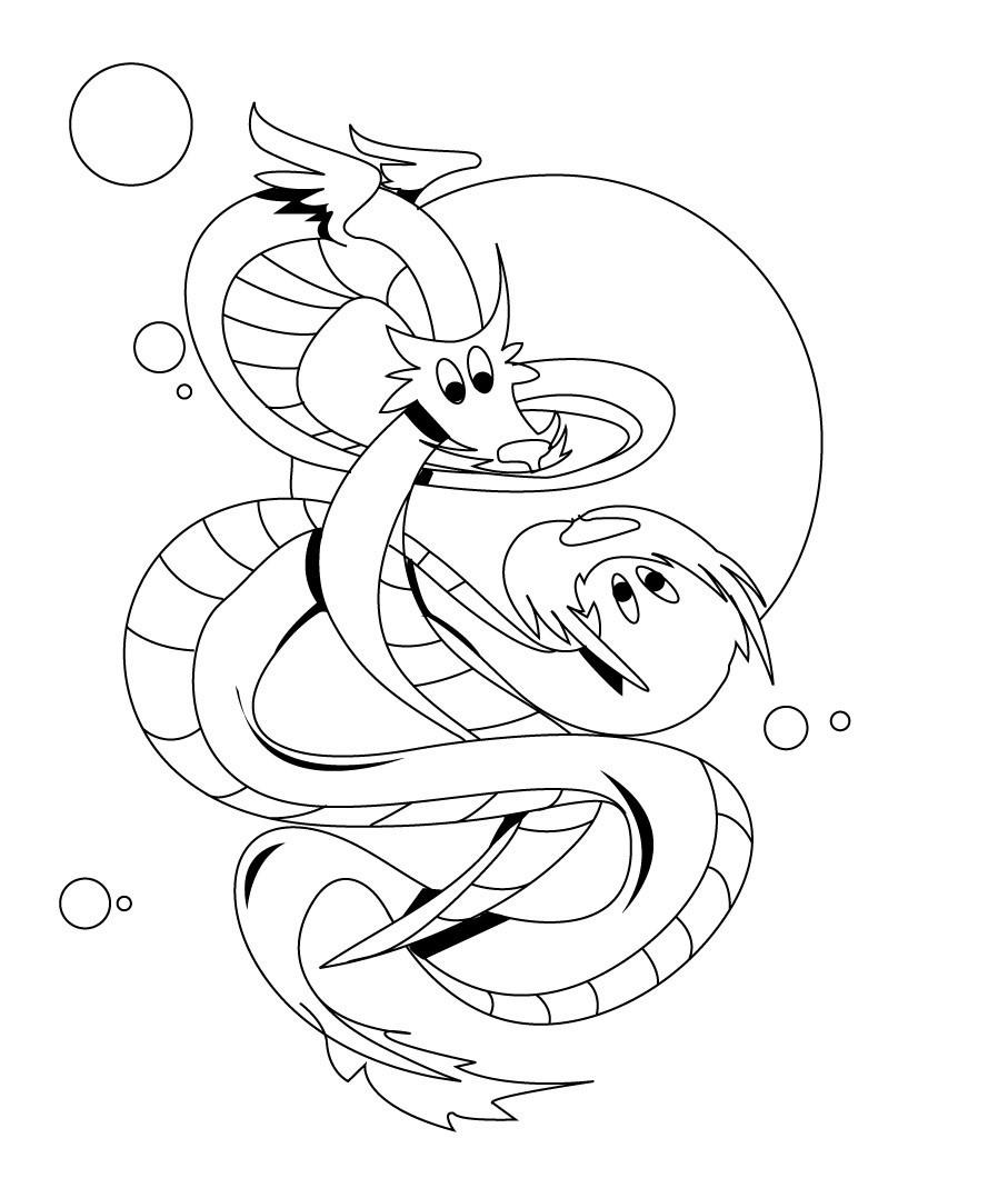 Printable Dragon Coloring Pages  Free Printable Dragon Coloring Pages For Kids