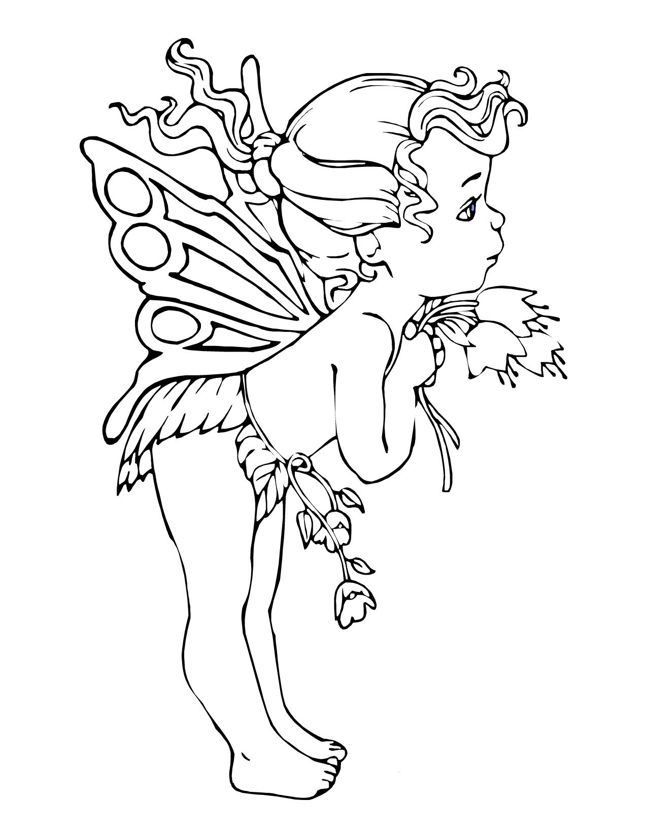 Printable Fairy Coloring Pages For Adults  Free Printable Fairy Coloring Pages For Kids