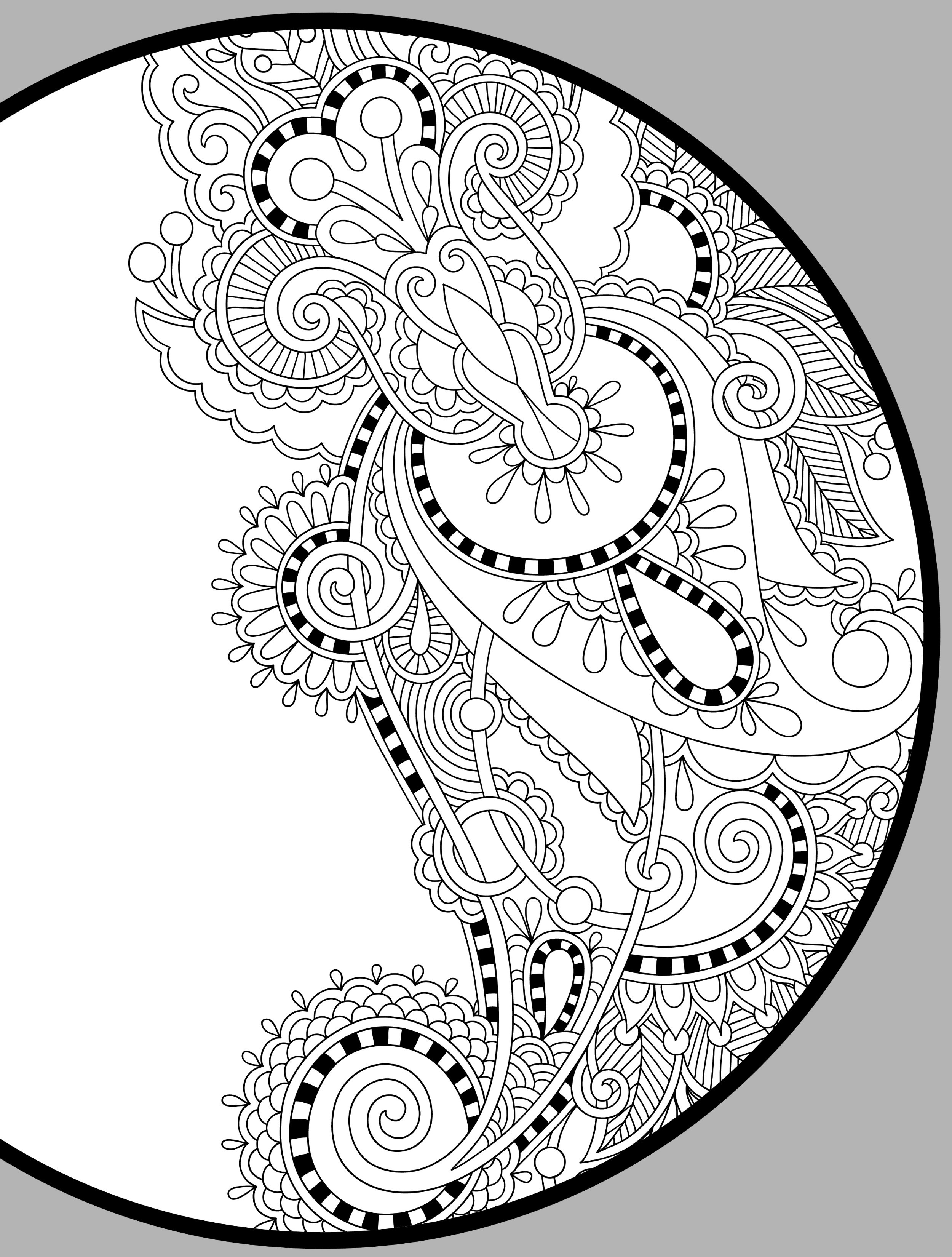Printable Free Coloring Pages For Adults  Free Printable Coloring Pages For Adults Pdf The Color Panda