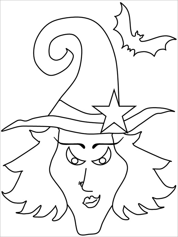 Printable Halloween Coloring Pages For Kids  20 Halloween Coloring Pages PDF PNG