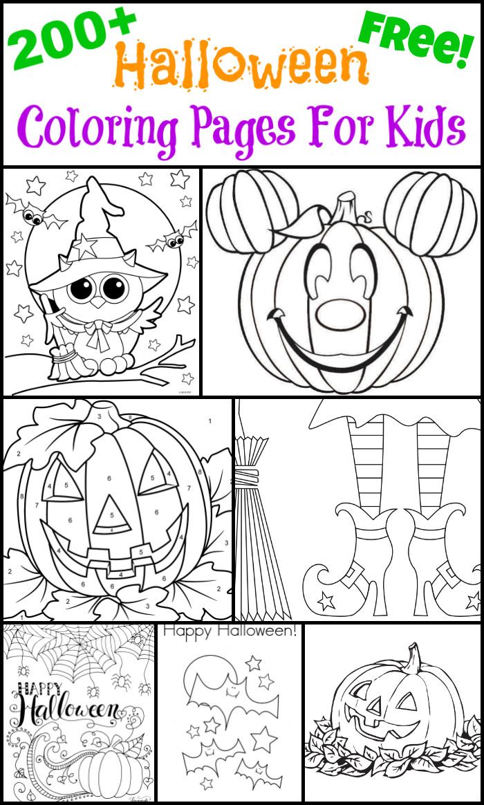 Printable Halloween Coloring Pages For Kids  200 Free Halloween Coloring Pages For Kids The Suburban Mom