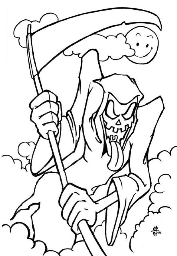 Printable Halloween Coloring Pages For Kids  Free Printable Halloween Coloring Pages For Kids