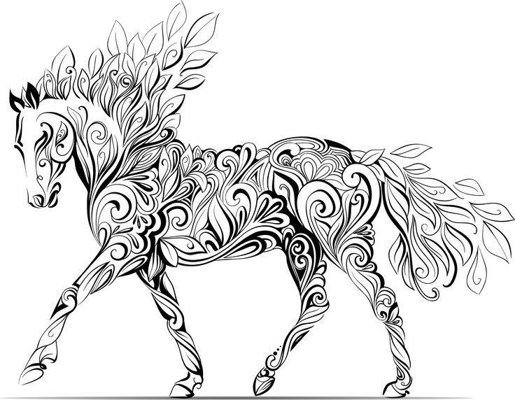 Printable Horse Coloring Pages For Adults  Adults Color Pages Mythical Animals Wallpaper The Art Jinni