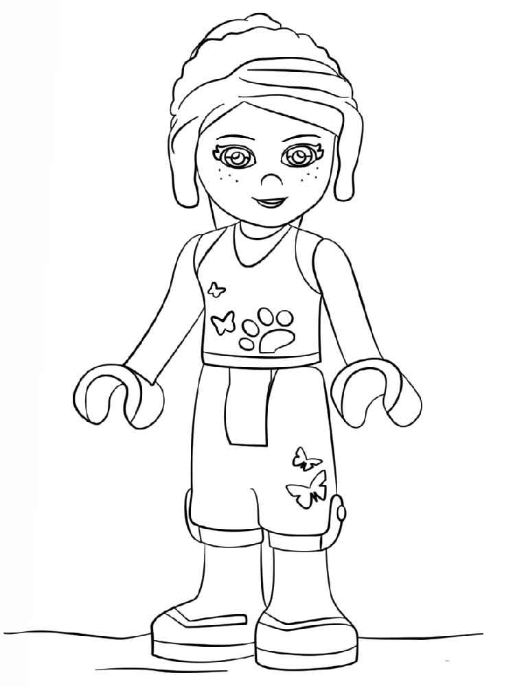 Printable Lego Coloring Sheets For Girls  Girl Lego Free Colouring Pages