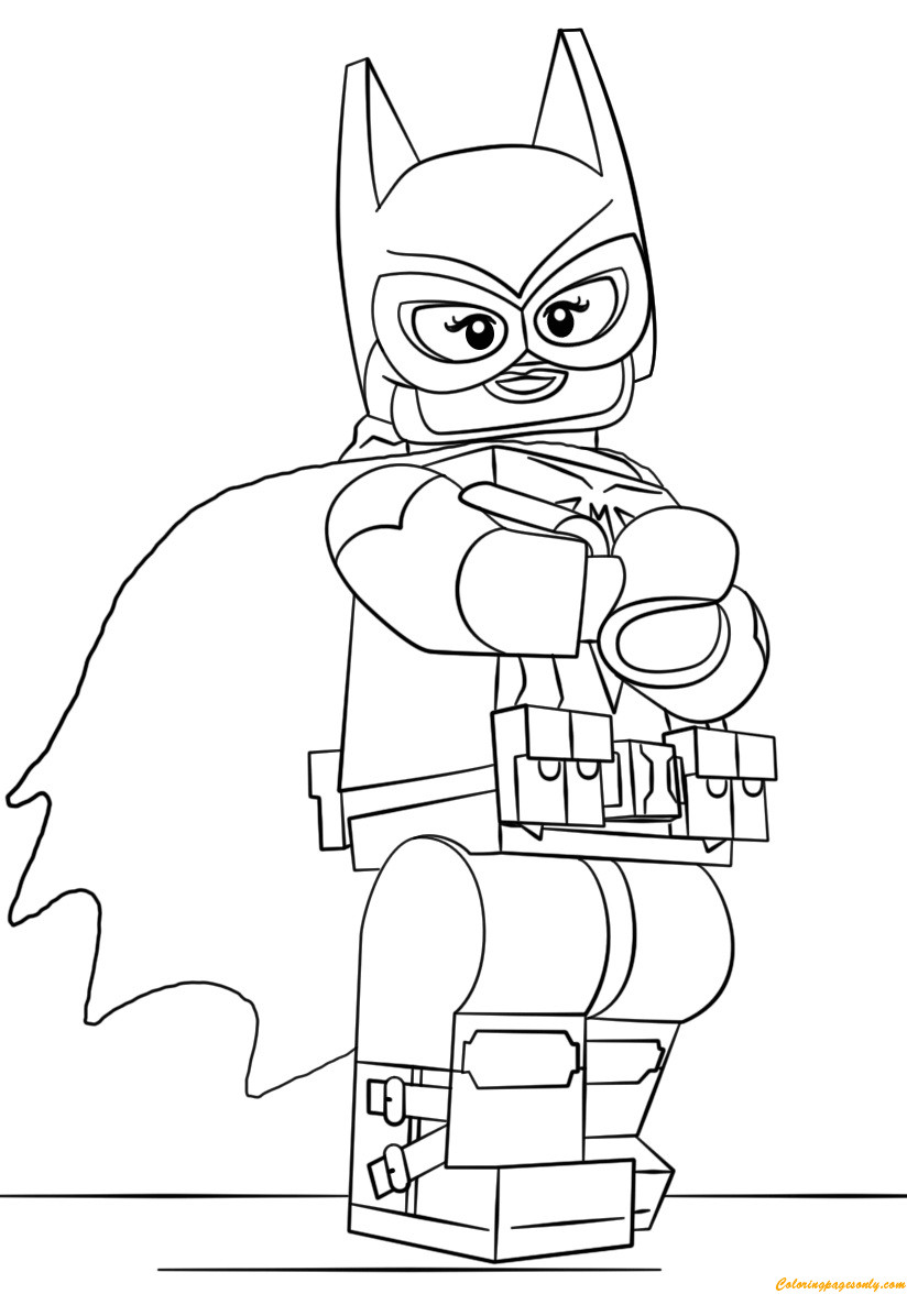 Printable Lego Coloring Sheets For Girls  Lego Batman Batgirl Coloring Page Free Coloring Pages line