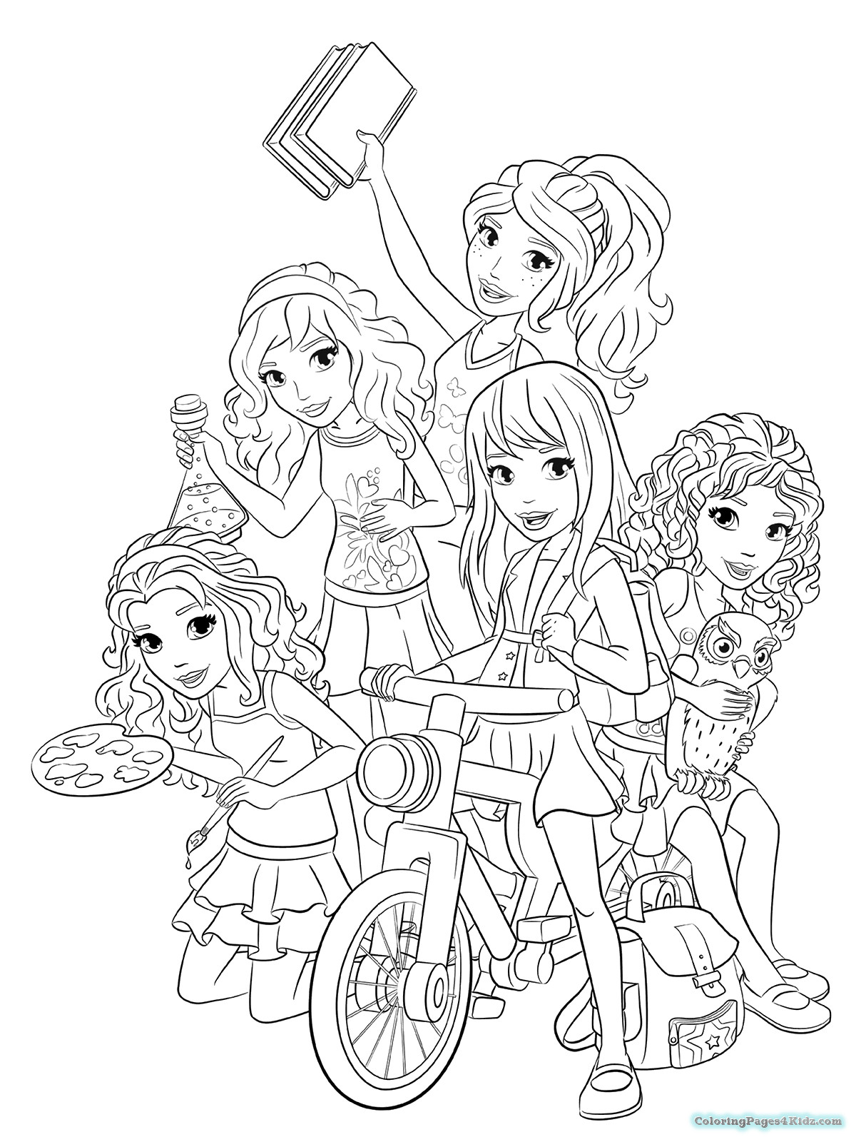 Printable Lego Coloring Sheets For Girls  Lego Friends Coloring Pages And Girls And Livi