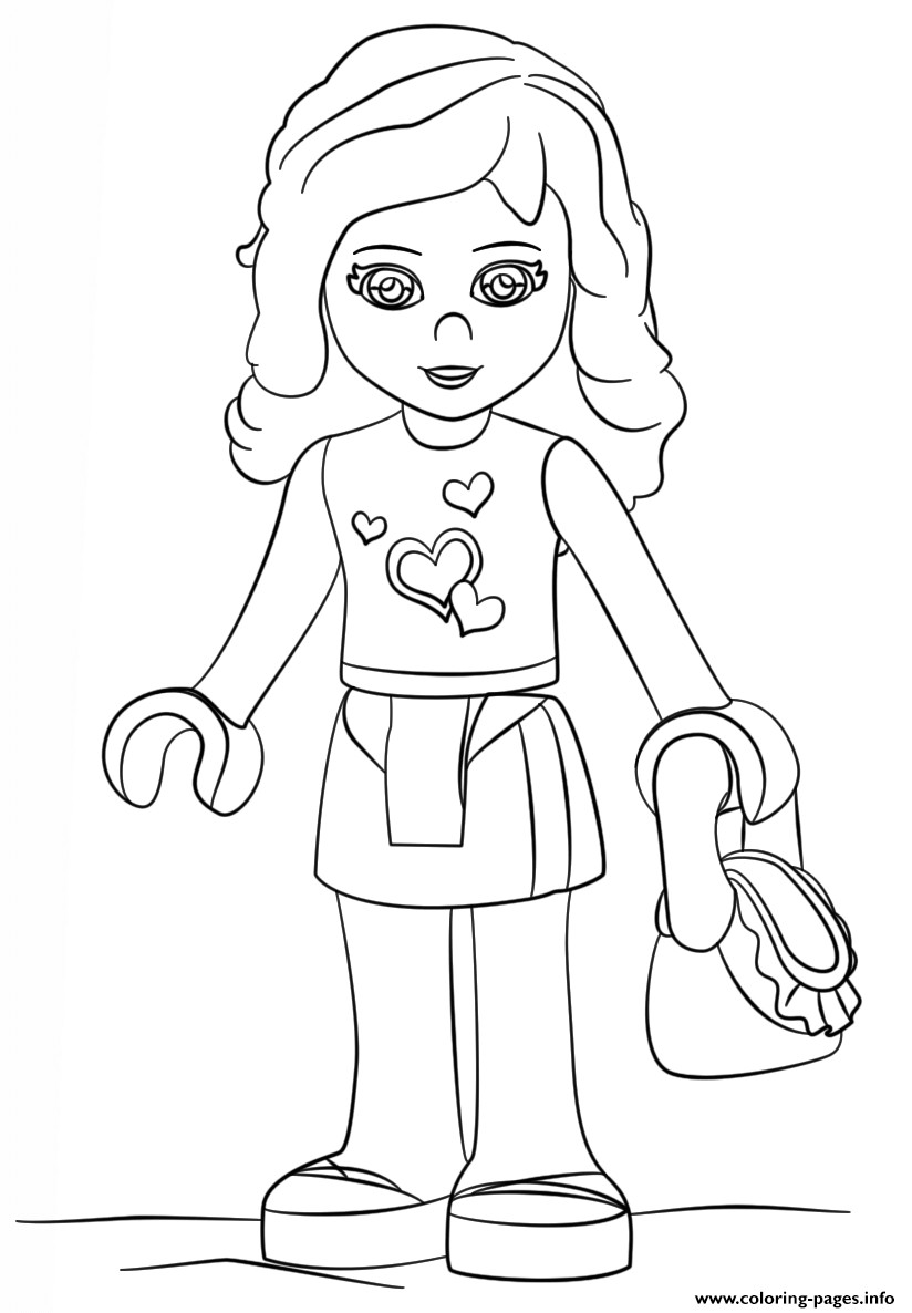 Printable Lego Coloring Sheets For Girls  Lego Friends Olivia Girl Coloring Pages Printable