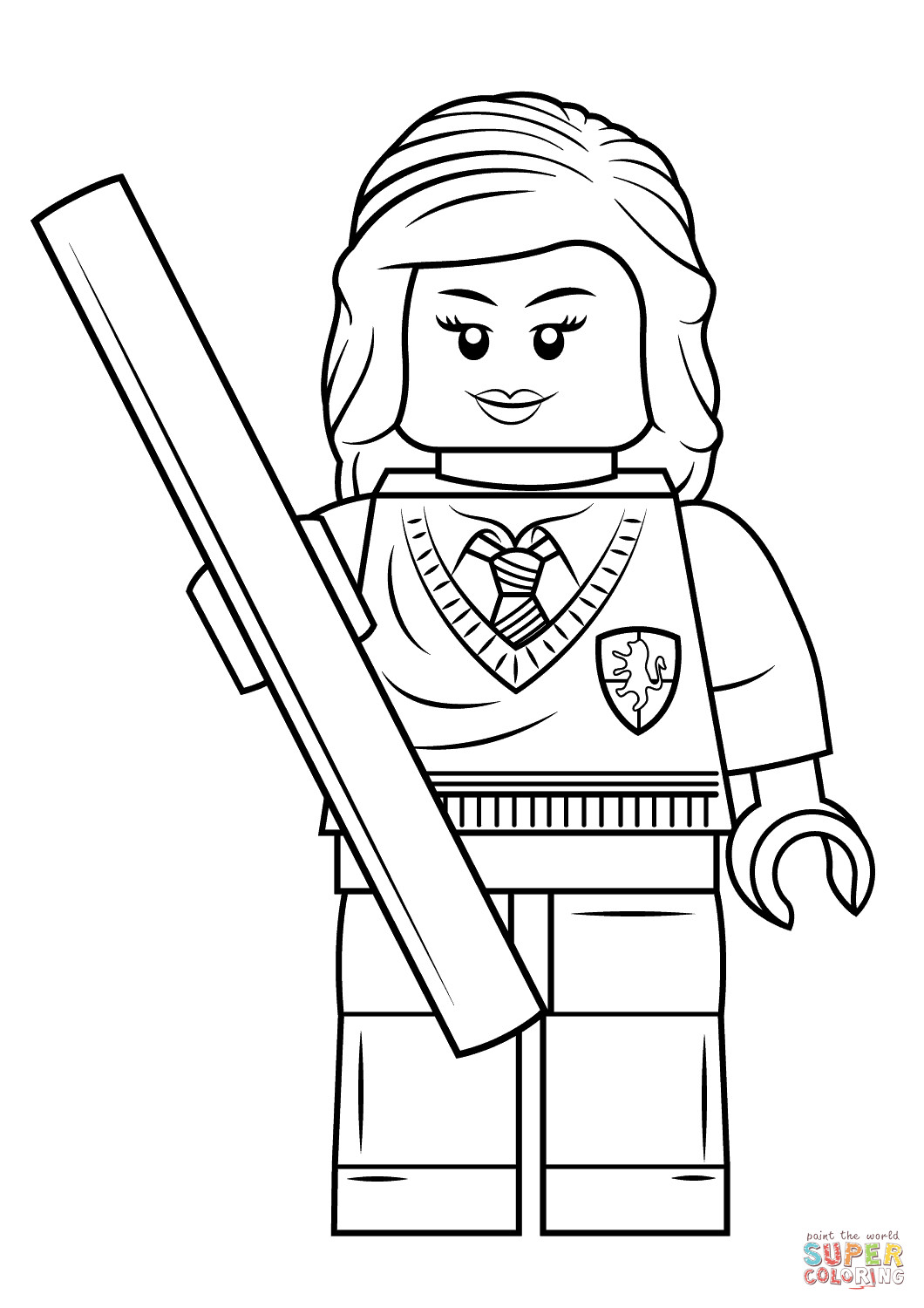 Printable Lego Coloring Sheets For Girls  Lego Hermione Granger coloring page