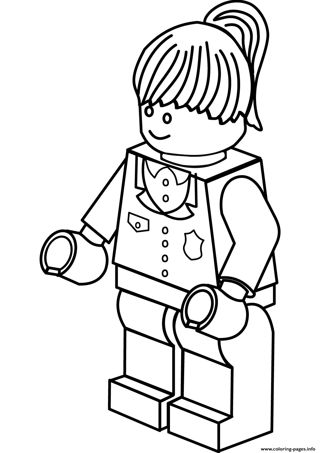 Printable Lego Coloring Sheets For Girls  Lego Police Woman Coloring Pages Printable